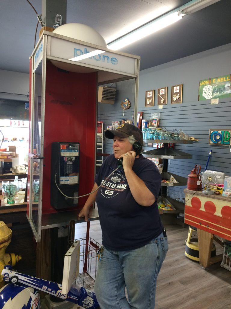 Sooz Rusty Nail Phone Booth