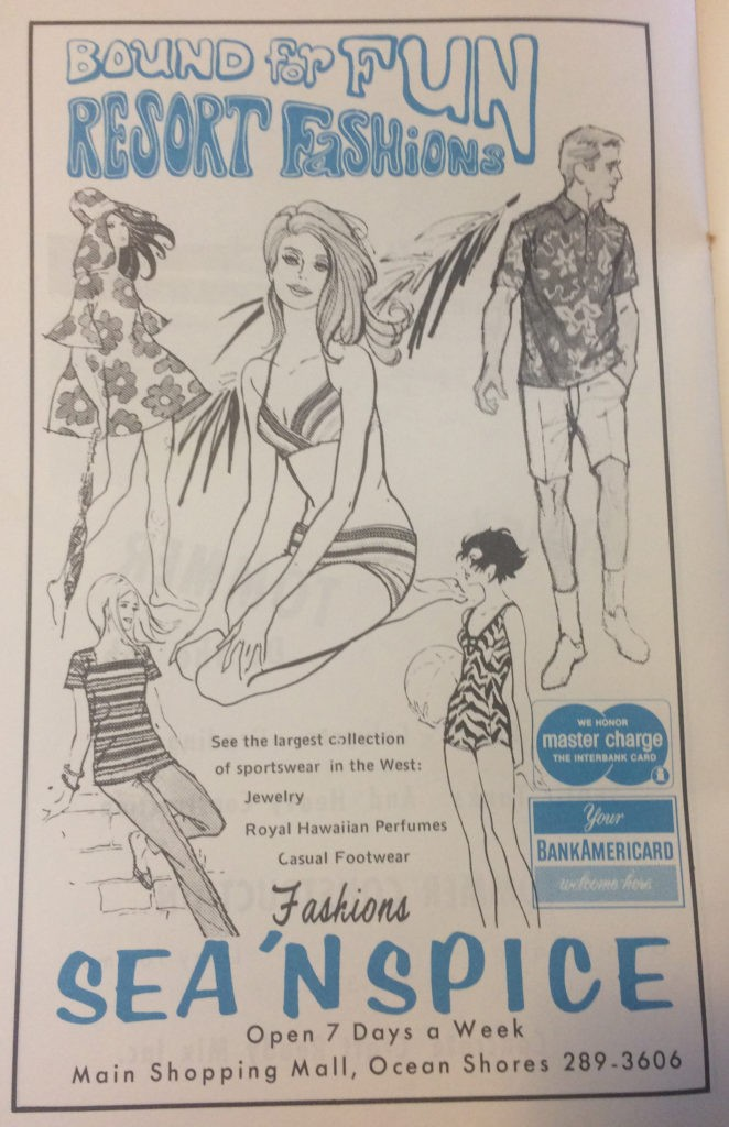 ocean shores old ad with bathing suits