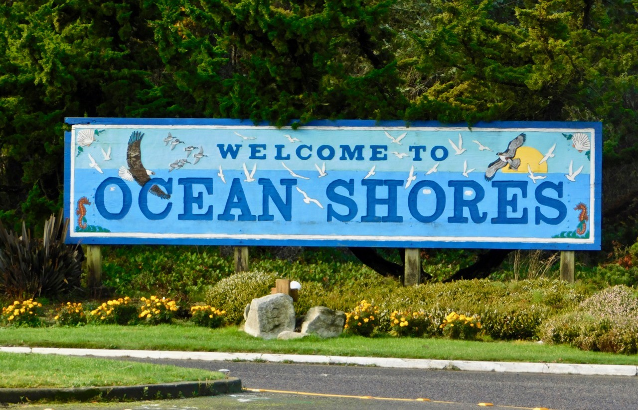 welcome to ocean shores sign judy mcvay