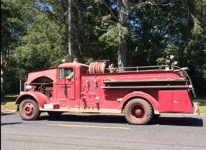 vintage Hoquiam Fire Engine Copalis Beach