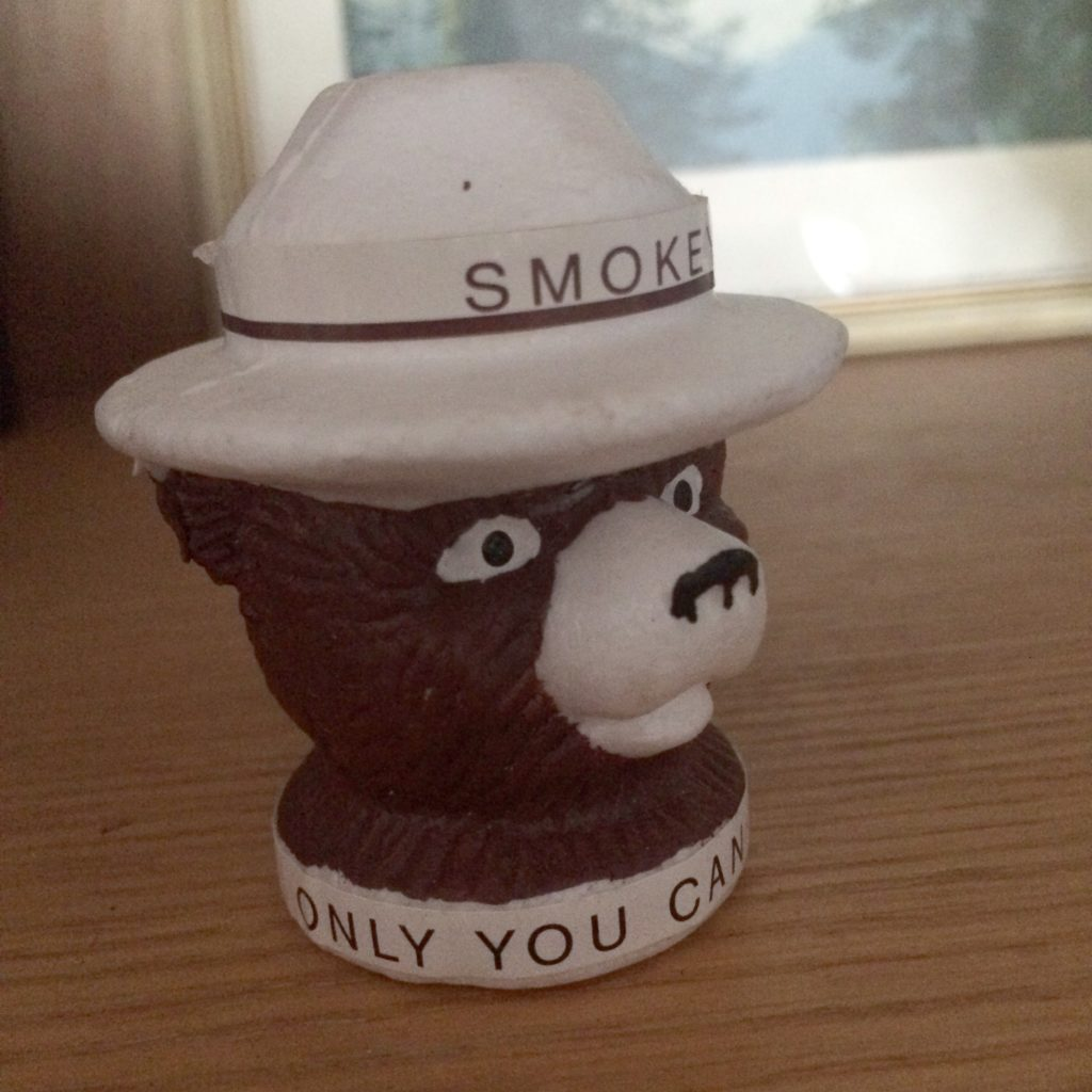 Smoke the Bear antenna topper