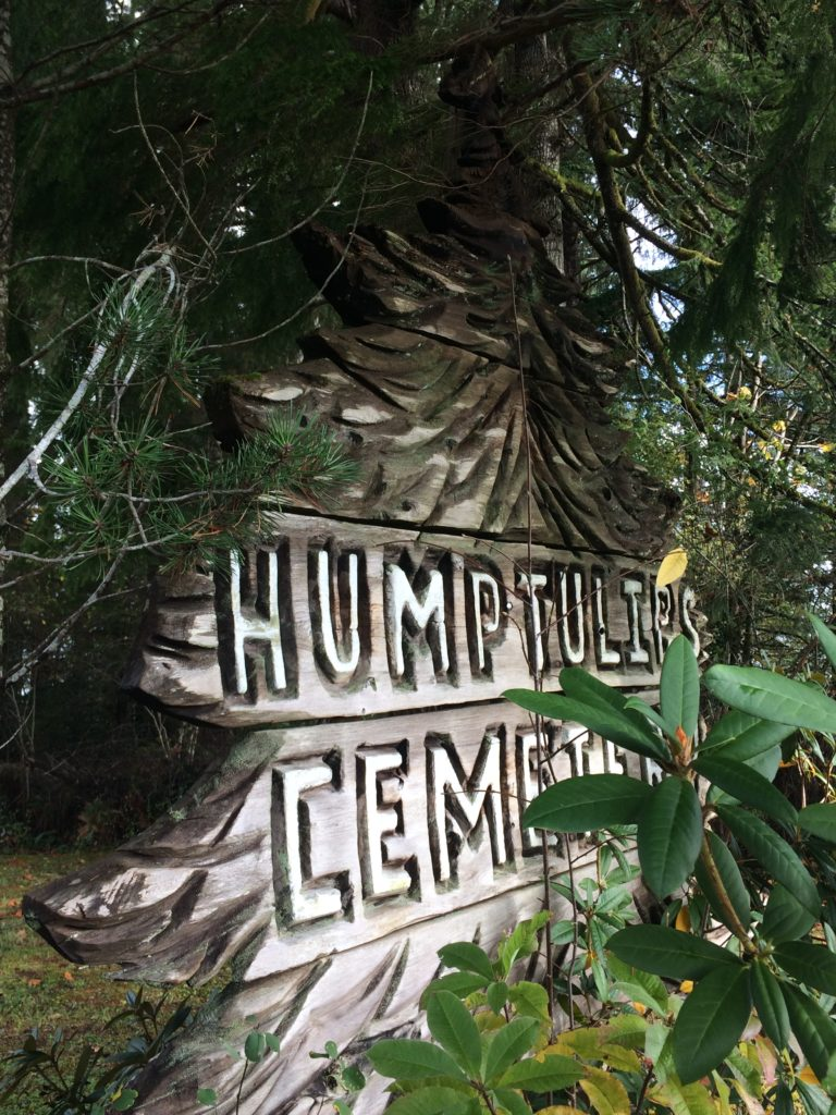 wood carved humptulips sign by judy mcvay