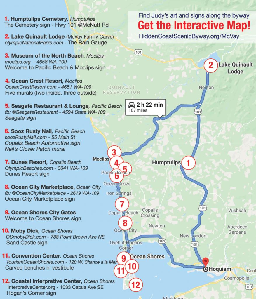 Interactive Map of the Judy McVay legacy on the Washington Coast