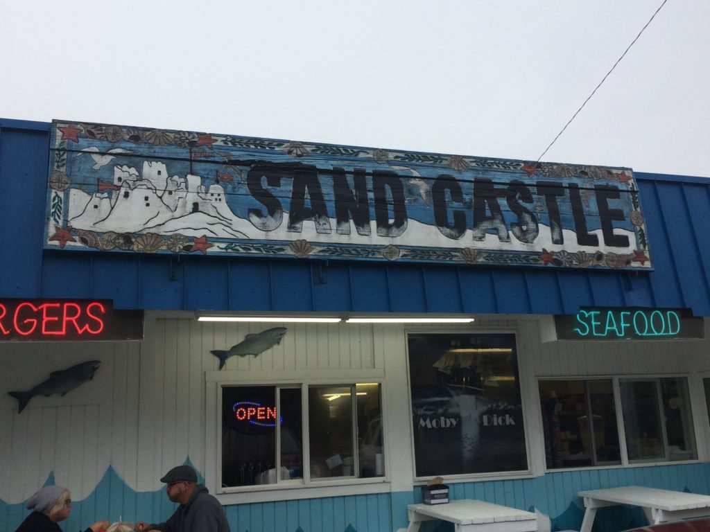 Judy McVay Sand Castle sign at Moby Dick