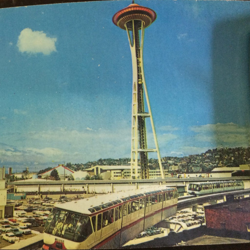 Vintage Seattle Space Needle and Monorail 1961