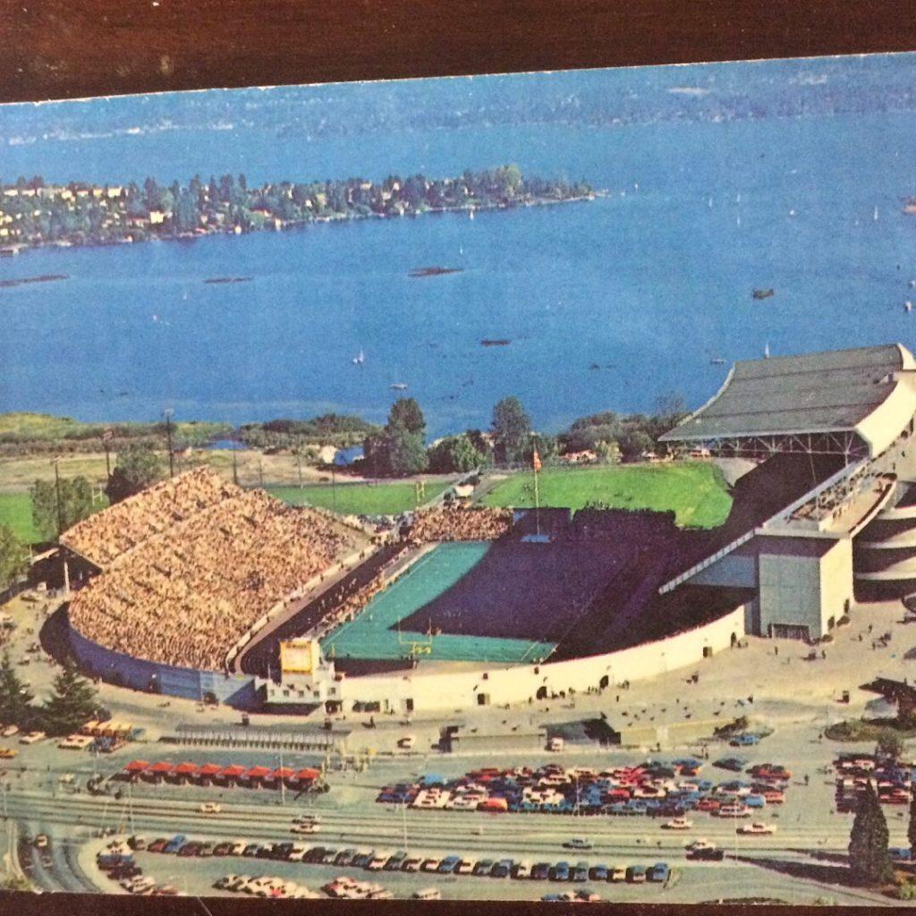 husky stadium 1960's vintage seattle