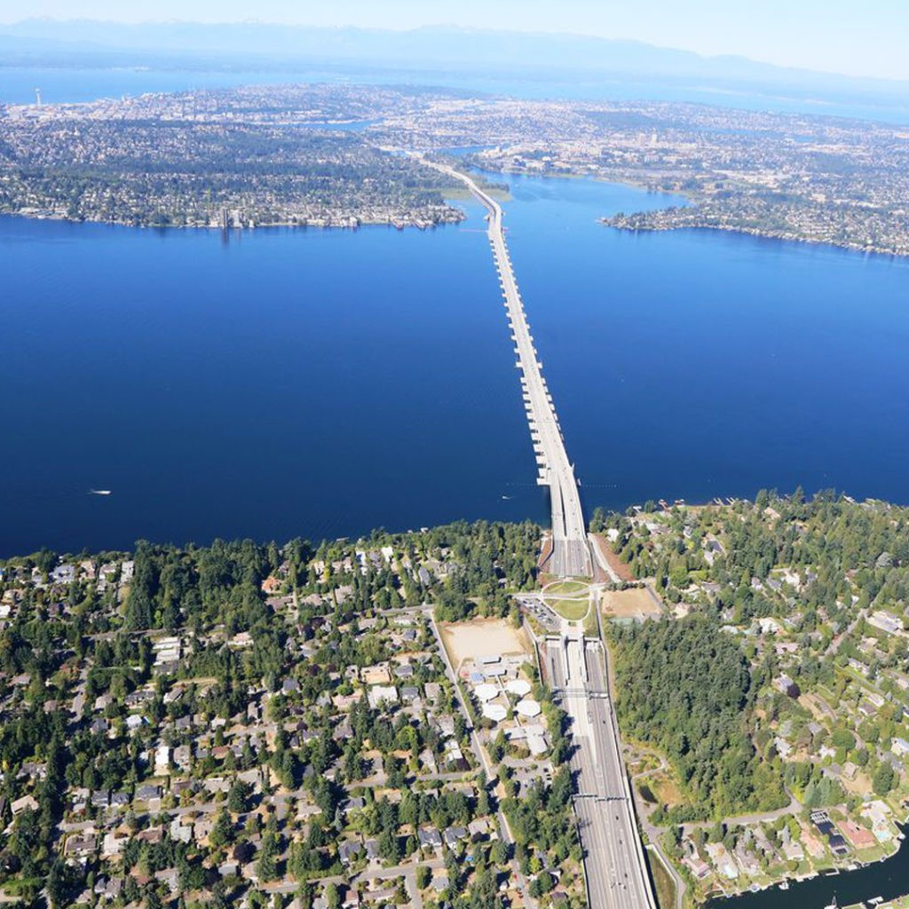 520 floating bridge Seattle 2020