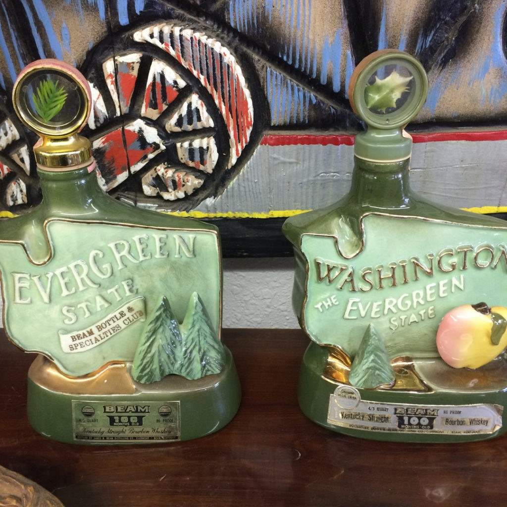 jim beam decanters washington the evergreen state