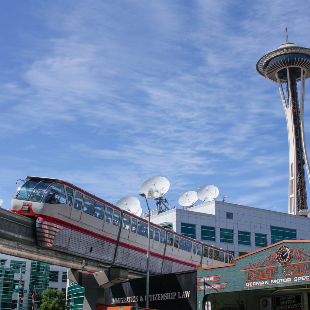seattle monorail and space needle 2020