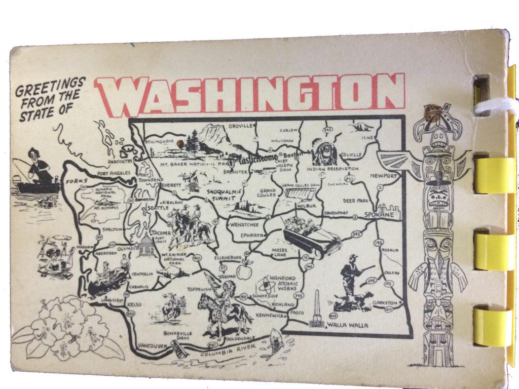 vintage seattle and washington map