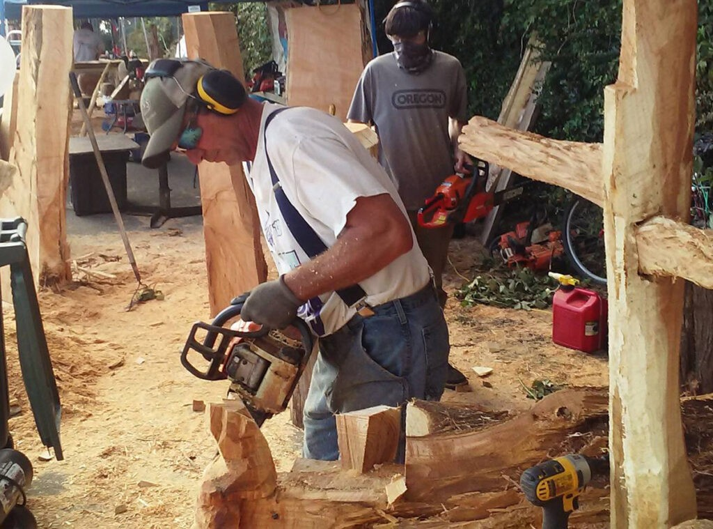 Boaz Backus Chainsaw Carving