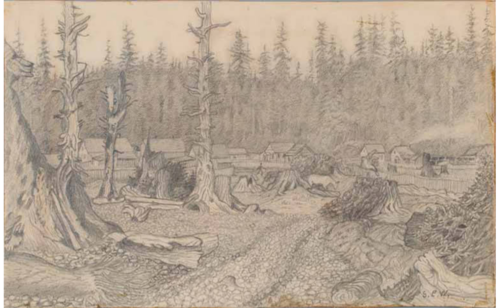 quinault Houses on the Hidden Byway 1885