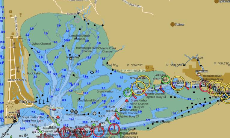 Nautical Map Oyehut Channel on hidden byway